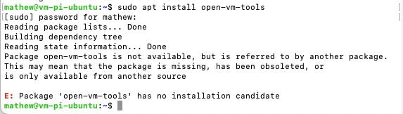 VM Install Error